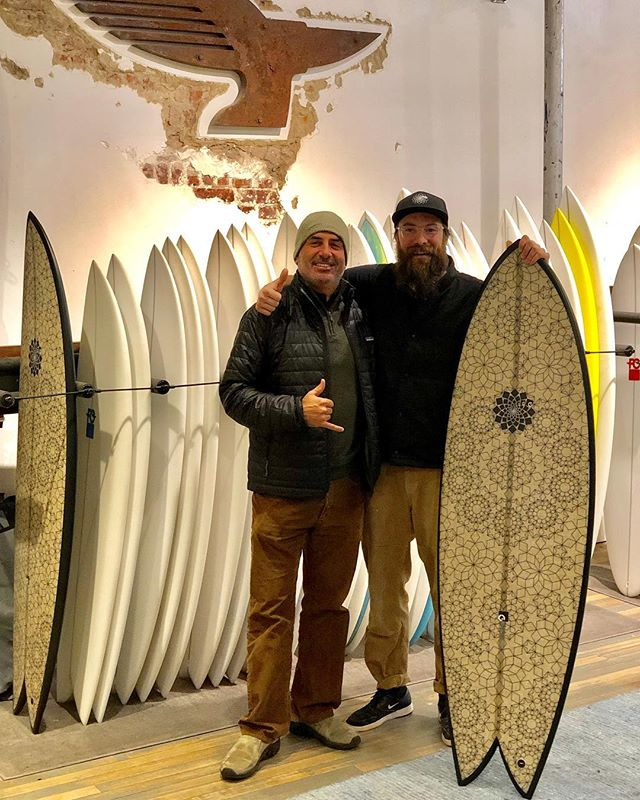My trip to NYC would not have been complete without a visit to @patagoniabowery  Stoked to hang with @budsnaps on his Bday and with Leah, Davey and the gang.  For crew in the East Coast looking for boards there are a couple of mighty fine looking RTTs looking for a home. . . . . . . #garymcneillconcepts #rtt #rastatorustwin #torustwin #toruschannel #twinfin #ecosurfboards #recycledfoam #patagoniabowery #patagoniasurf #newsurfboard #surfboards #surfing #surf #surfinglife #surftripweapon #stoked #nycsurf #designedinaustralia #madeintheusa #madeincalifornia