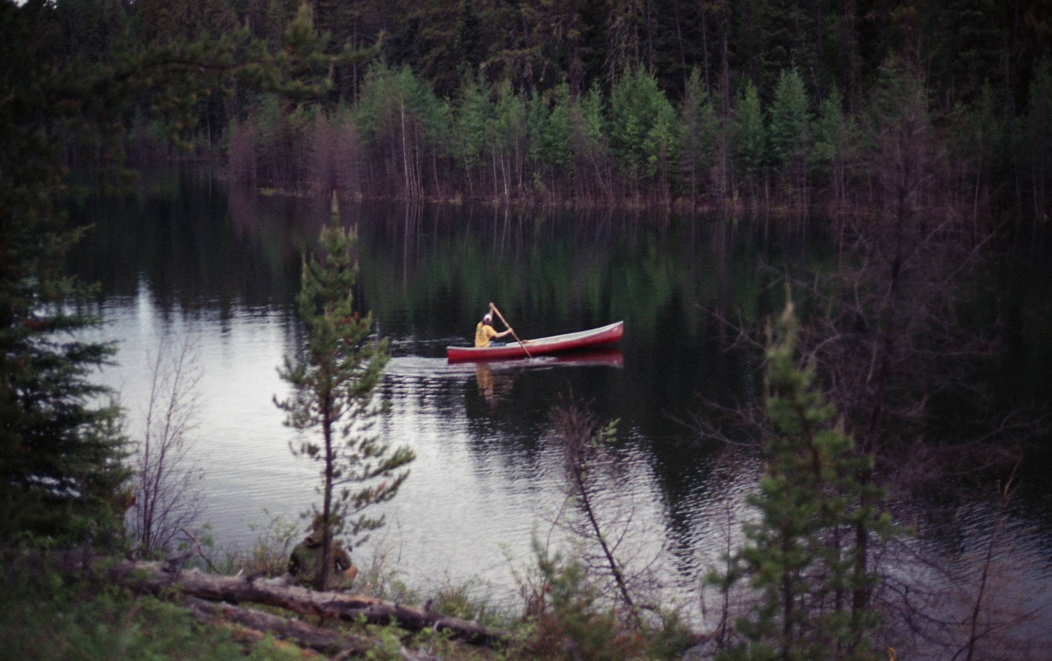 Canoeing on Diamond Lake
