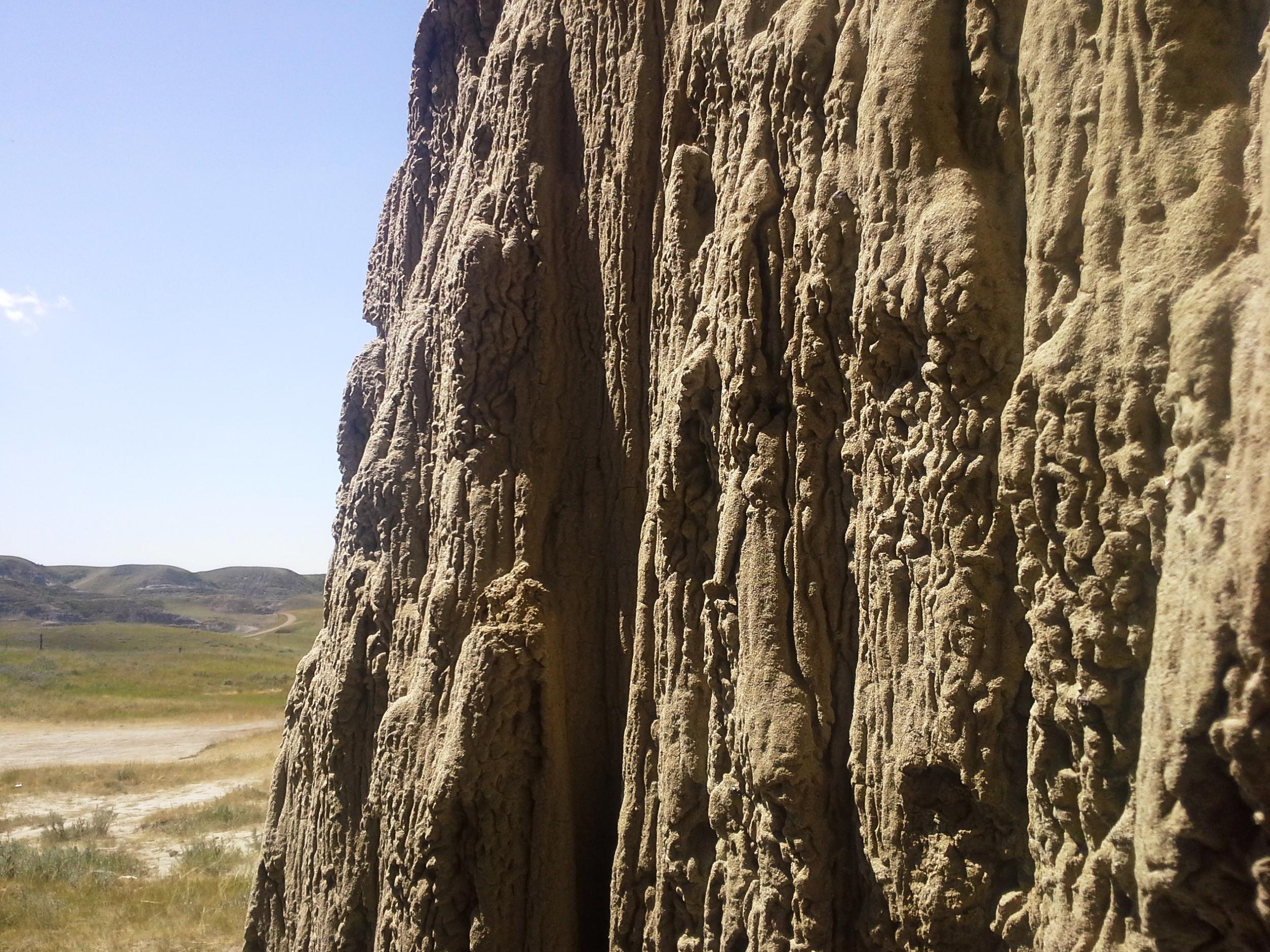 Sandstone Walls of Castle Butte