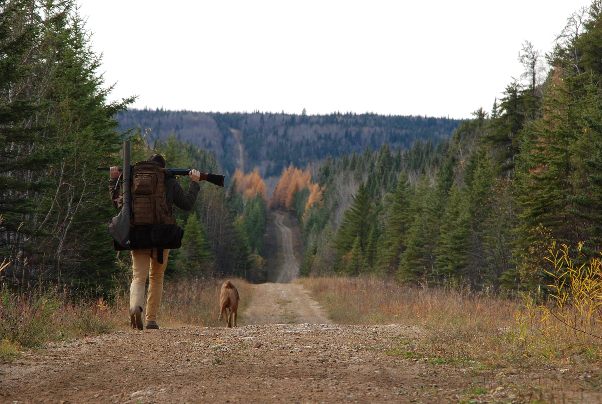 In the spirit of Les Stroud, I had to include a picture of us walking out into the wilderness.