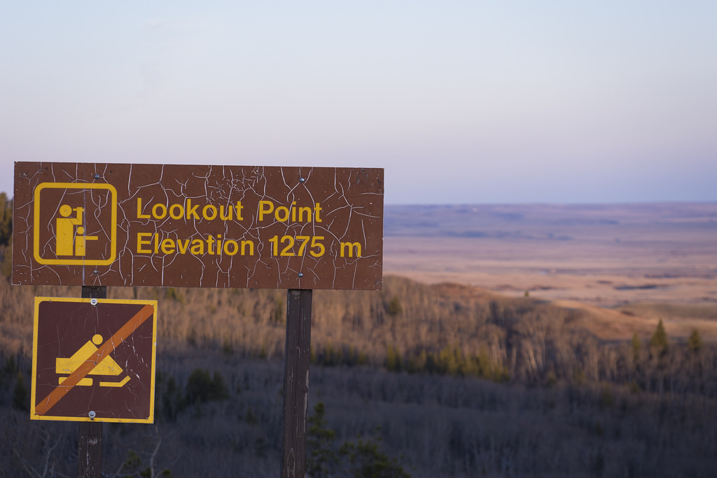 Cypress Hills are an anomaly in Saskatchewan, with forested slopes that contrast with the surrounding grasslands.