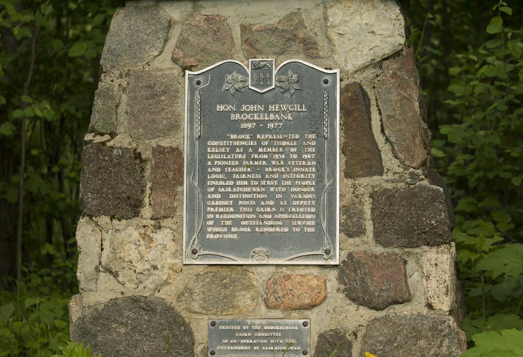 Cairn commemorating Hon. John Hewgill Brockelbank. (Goodson)