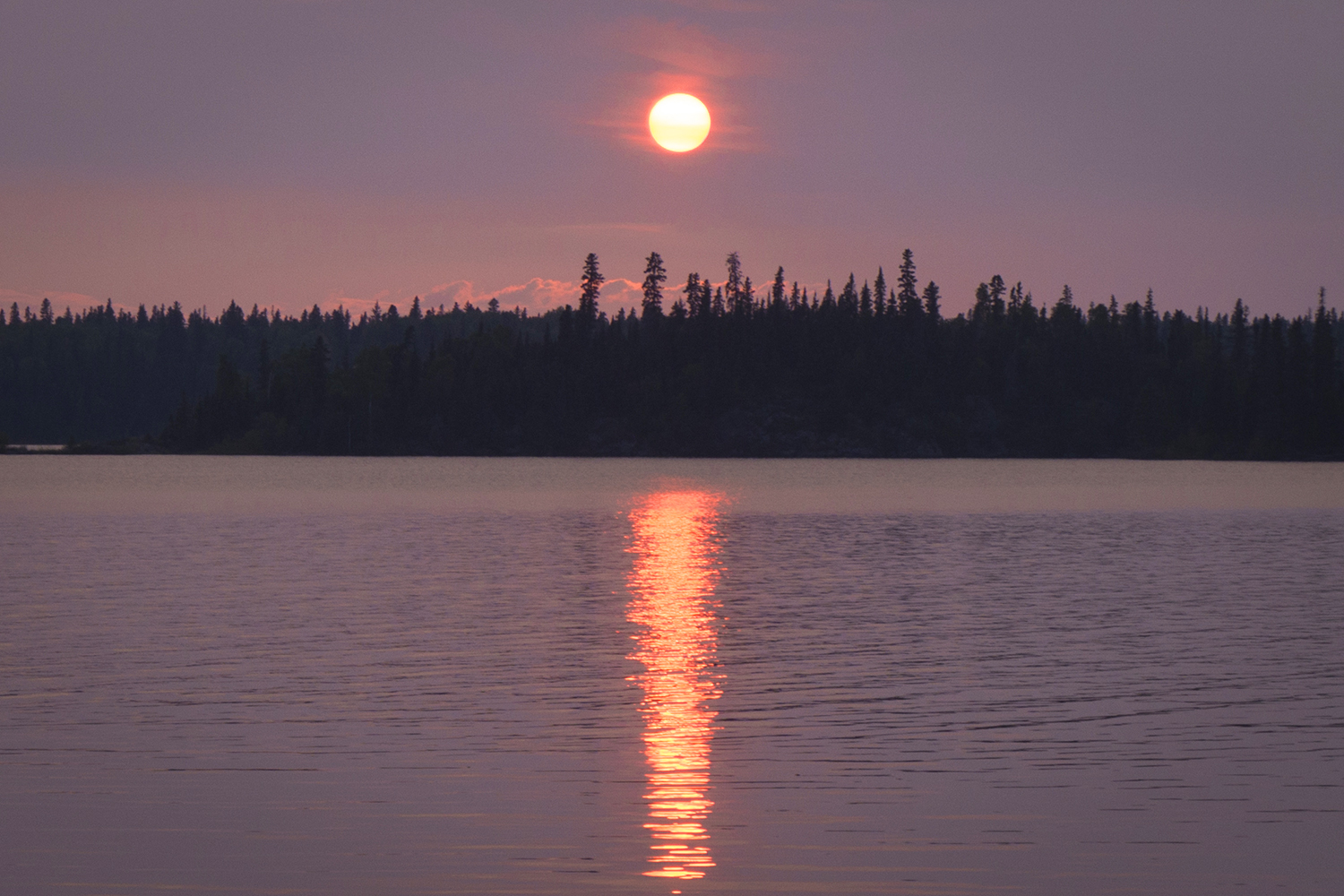 Sunset on the western shore of Missi Island (Goodson)