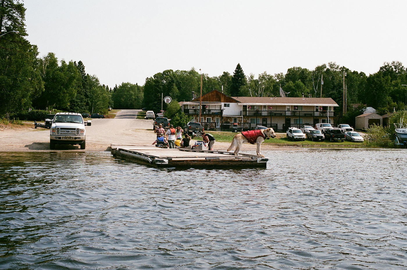 Leaving the boat launch (Hootz)