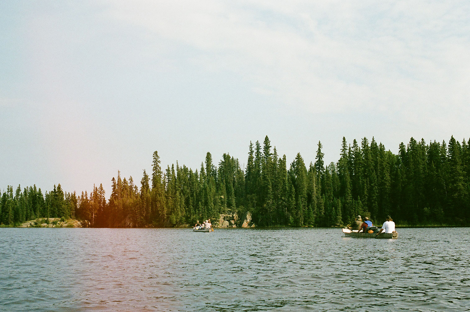 Approaching the northern edge of Missi Island—which quickly became our second camp (Hootz)