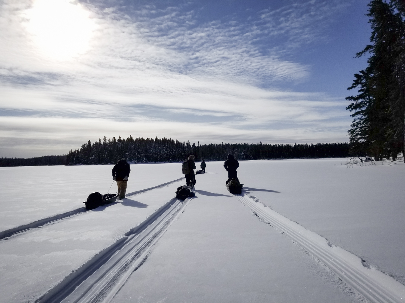 Making fresh tracks on an undisturbed lake (Goodson)