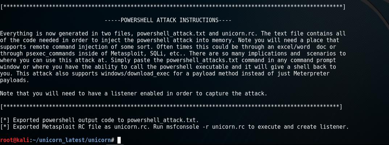unicorn.py attack generation