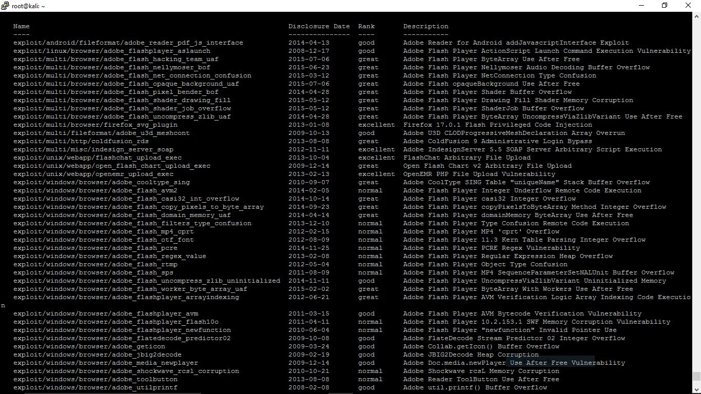 Adobe Flash exploits in the Metasploit Framework