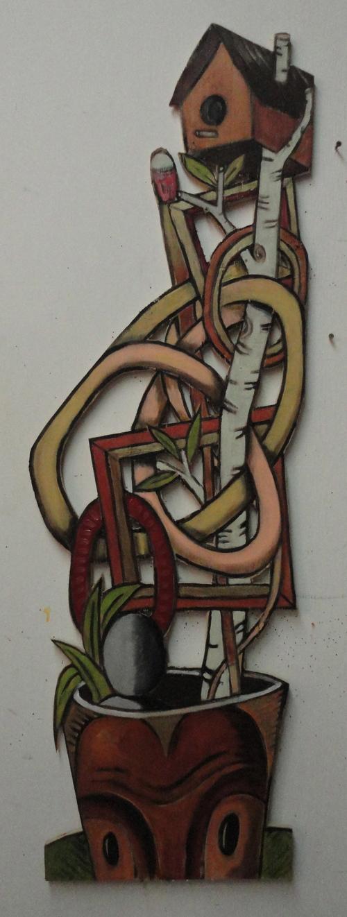 Bird House 41x16 acrylic on wood 2015.jpg