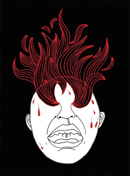 Fibriophobia (Fear of Fever)  ; Ink and digital 2012