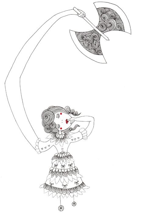 Pediophobia (Fear of Dolls)  ; Ink and digital 2012