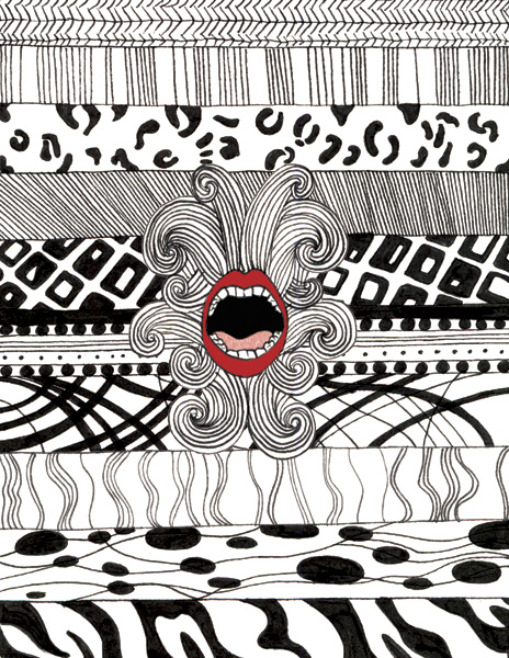 Vestiphobia (Fear of Clothing)  ; Ink and digital 2012