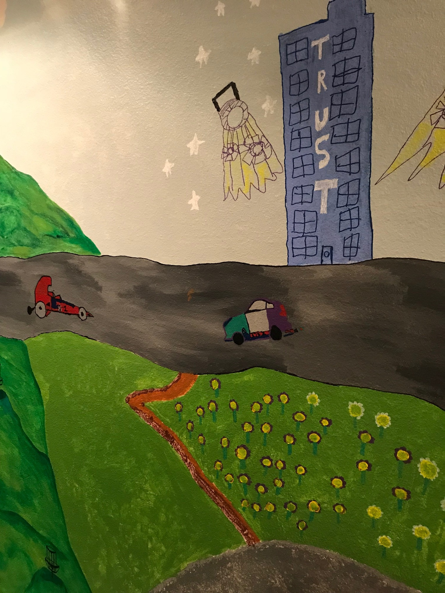 """""""Gary's"""" contribution to the student mural"""