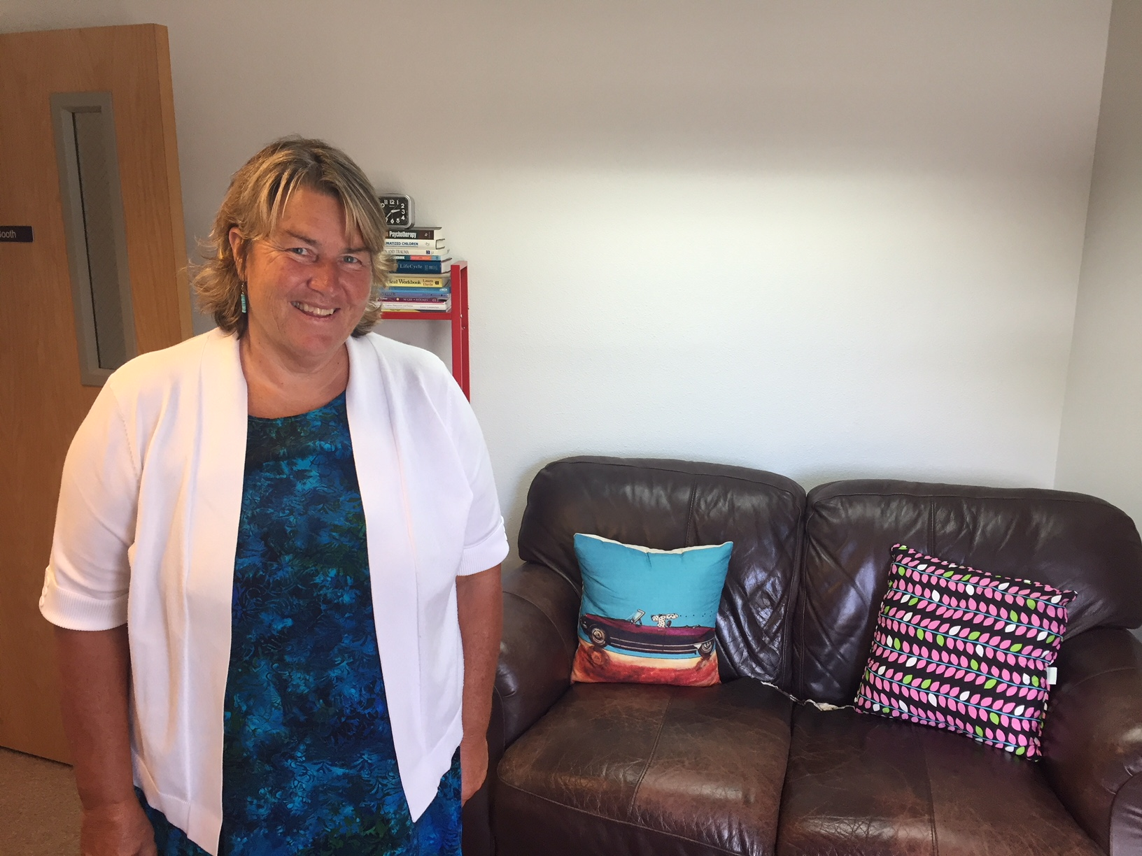 Mental Health Therapist Lynn Booth at her North Eugene counseling office.