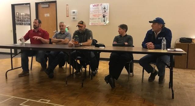 Left to right: Kevin Cohen, Randy Tye, Tony Phifer, Avril Watt, and Mark Harrington