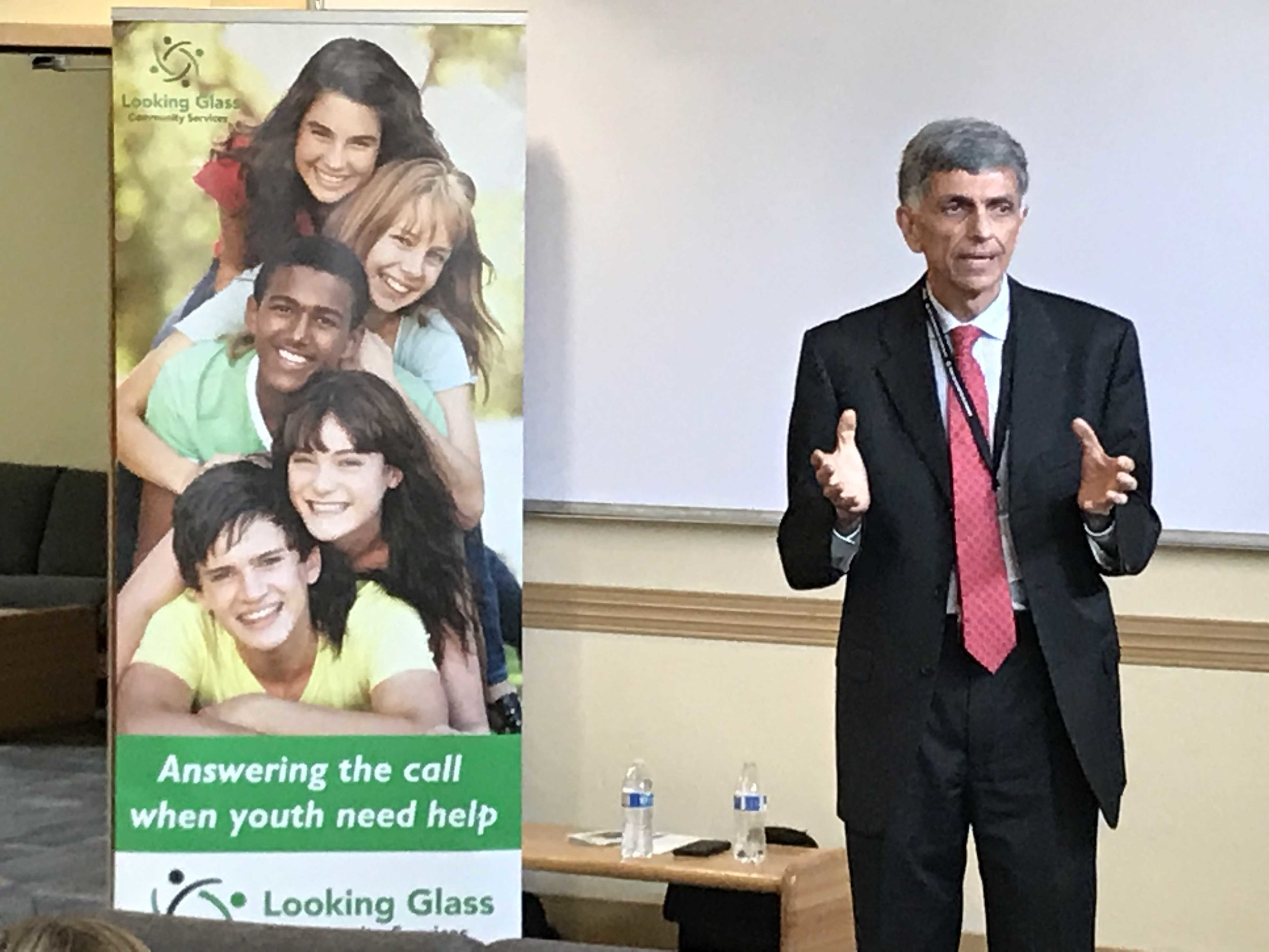 Fariborz Pakseresht, DHS Director, talks to the Looking Glass supporters about the importance of the RCC and Looking Glass services for youth in Oregon.