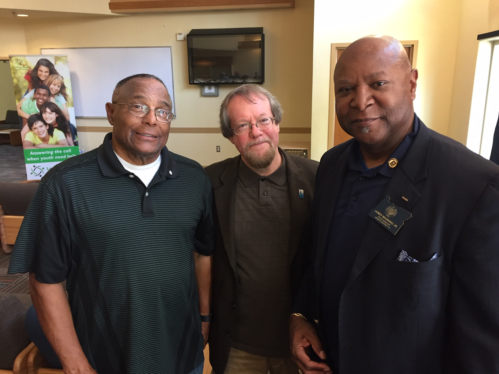 From left: George Russell, Looking Glass Board of Directors member, Craig Opperman, Oregon State Senator James Manning.