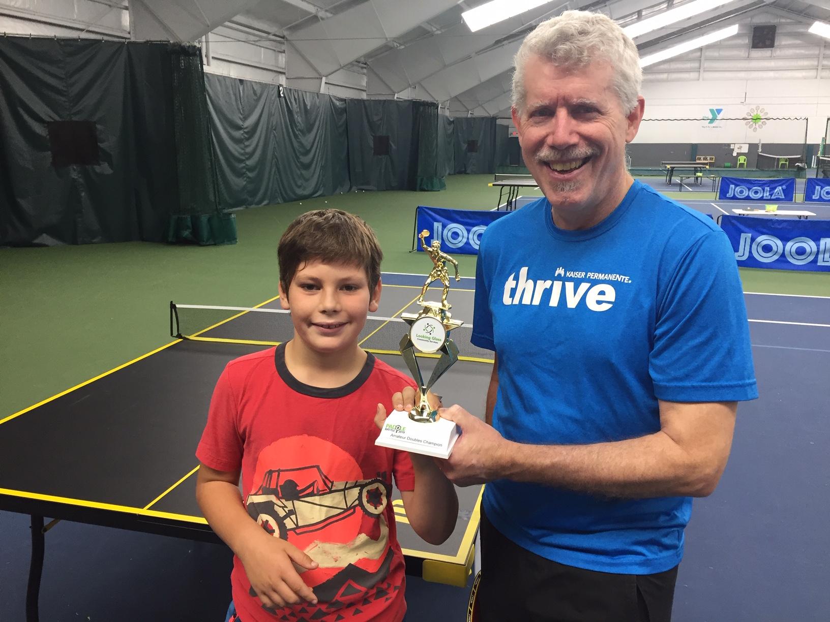 Doubles amateur champs Levi and Tom