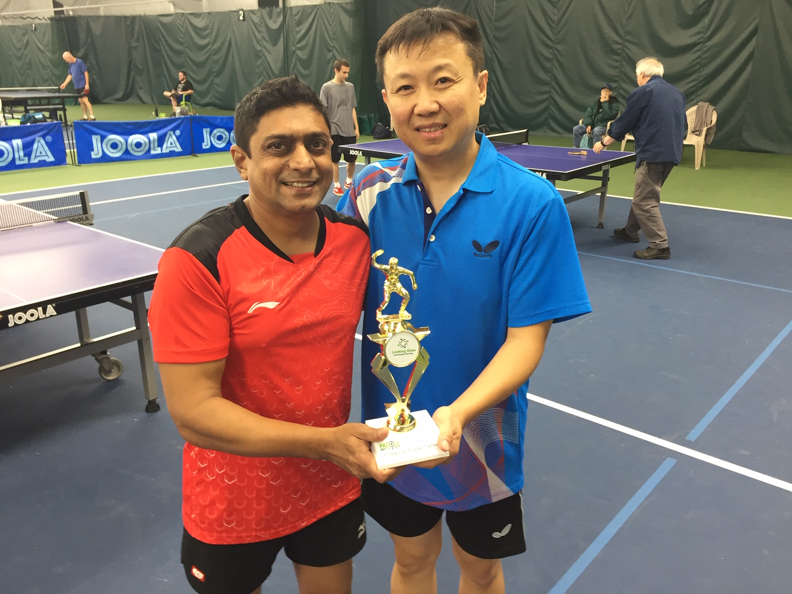 Doubles pro champs Samir and Tian Wei.