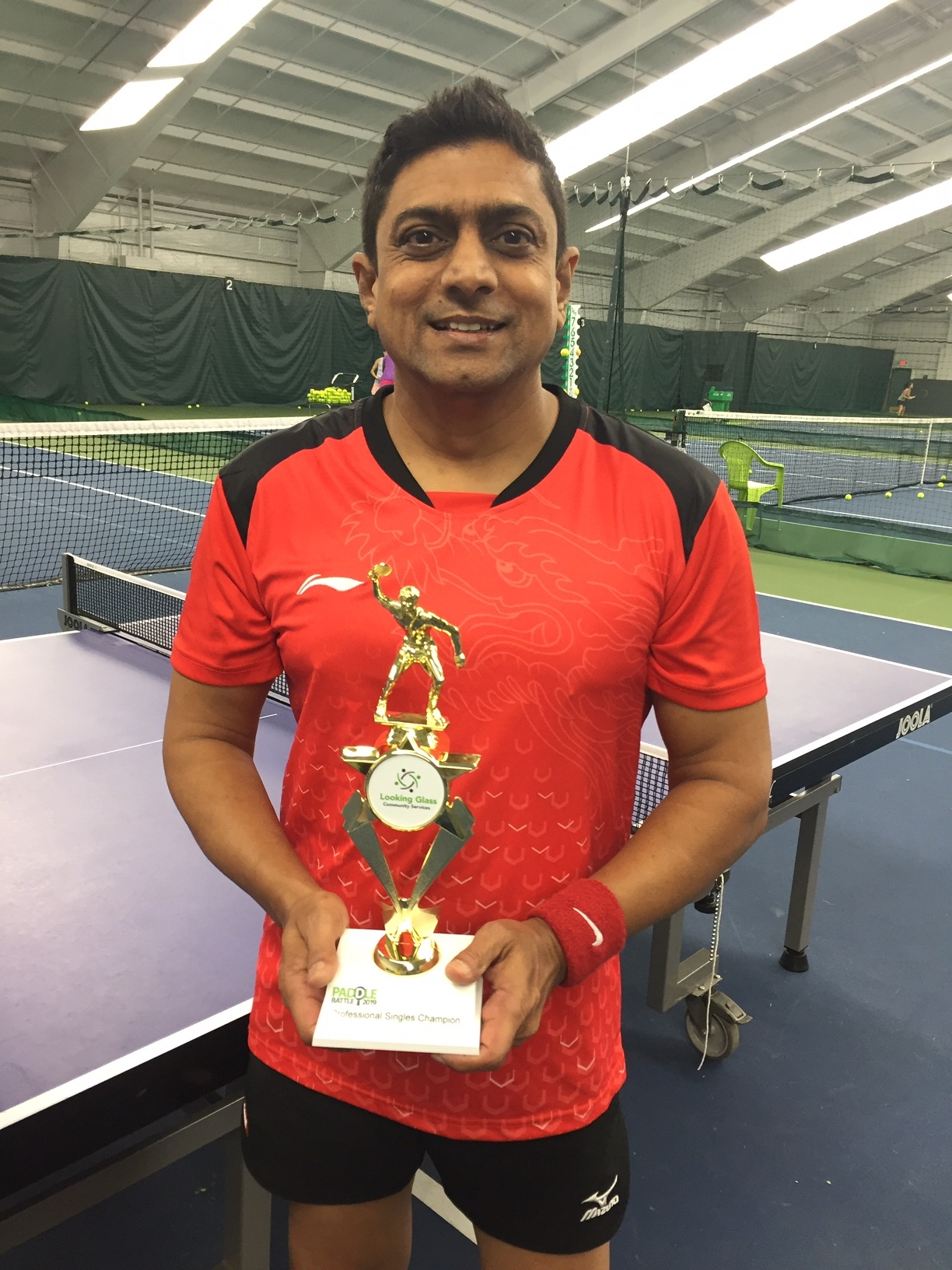 Singles pro champ Samir (he won doubles AND singles!)