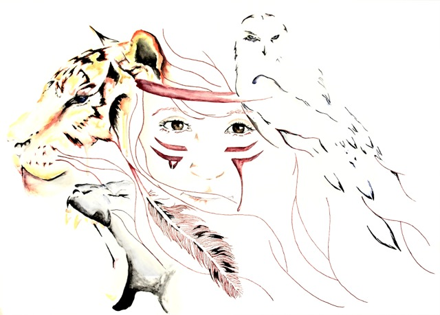 derek hendrickson commission Brad wilson artist watercolor ink splatter abstract colorful painting bradley wilson studios.jpeg