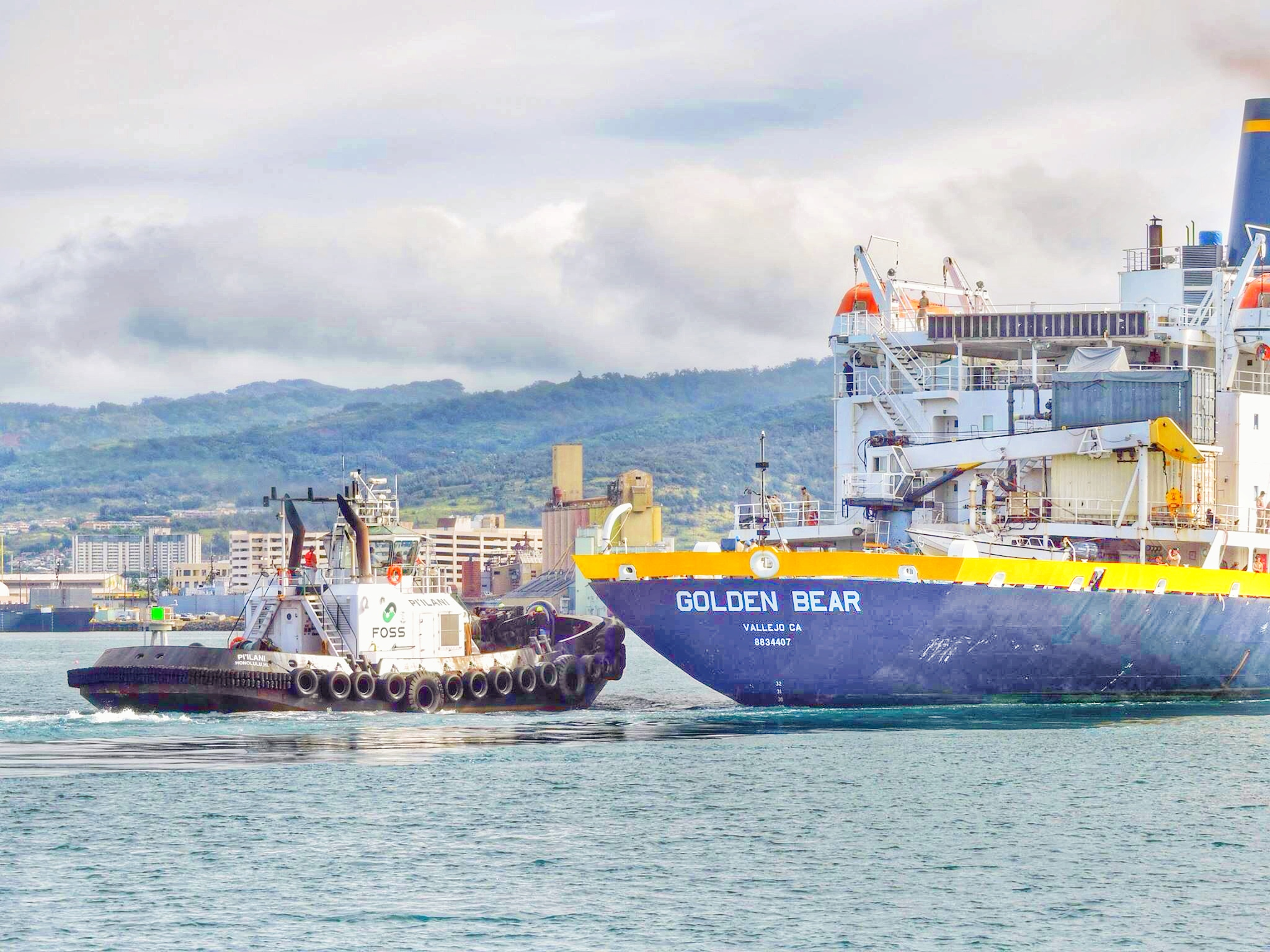 The T/S GOLDEN BEAR departed El Salvador and is on her way to Hawaii. Next stop, Lahaina, Maui on May 23. Not certain of schedule once the ship arrives. Sometimes they do drills and 'rubber docking' maneuvers. At some point, they may anchor and allow cadets ashore. Standby for more info.