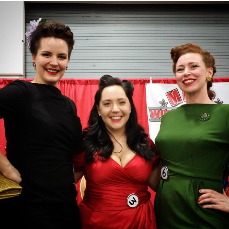 Ruby Spencer, Sadie North, and Ada Atomic at the 2015 Milwaukee World of Wheels Car Show.