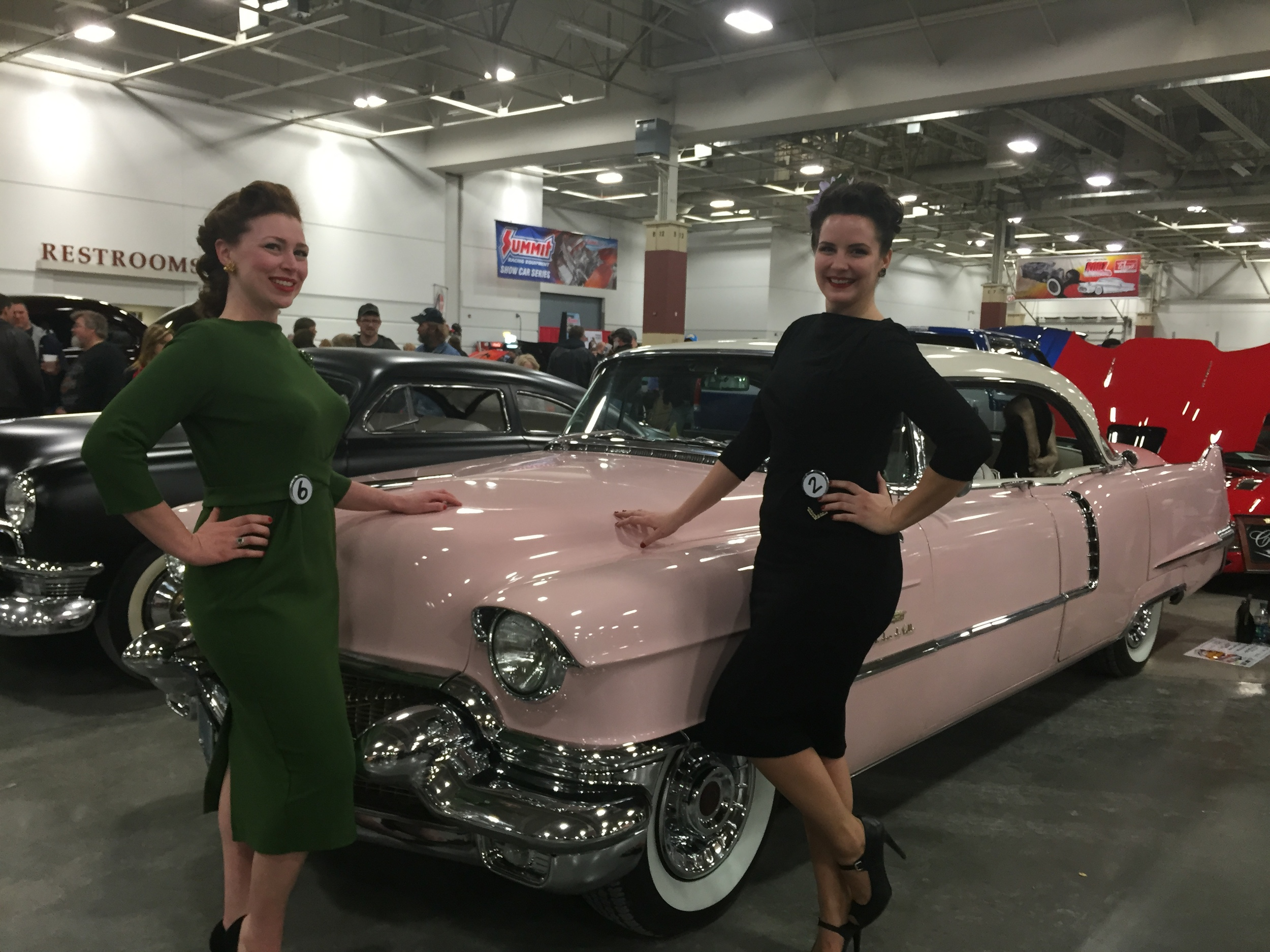 Classic Car beauties (with Ada Atomic) at the  World of Wheels  Pinup Competition 2015
