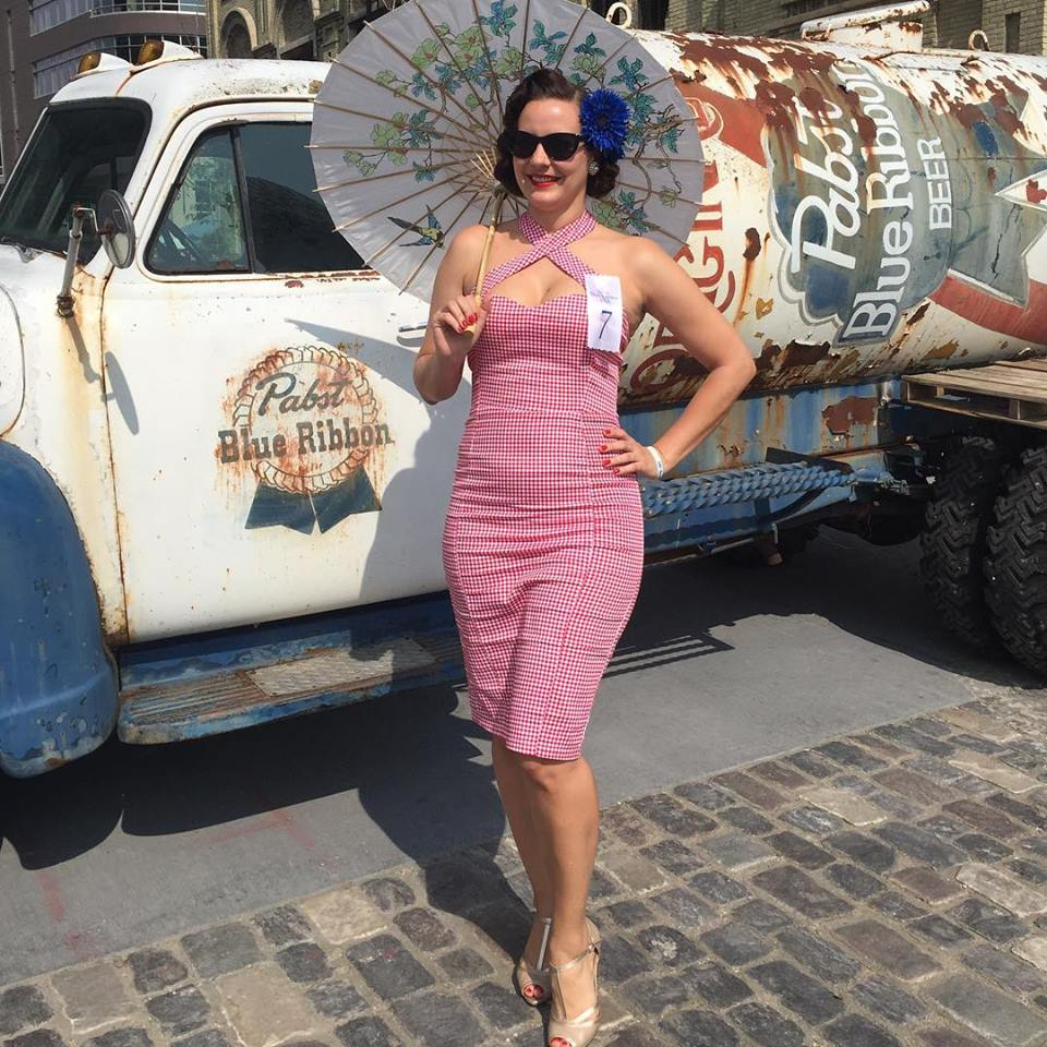 Quick pose in front of the PBR truck - photo by my aunt
