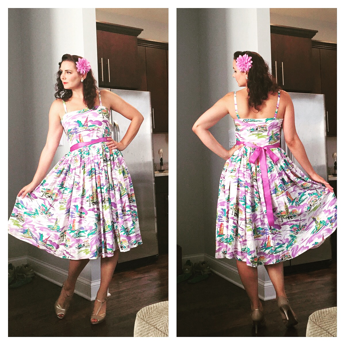 dress: handmade, shoes:  DSW , hair flower:  Nicocco Creations