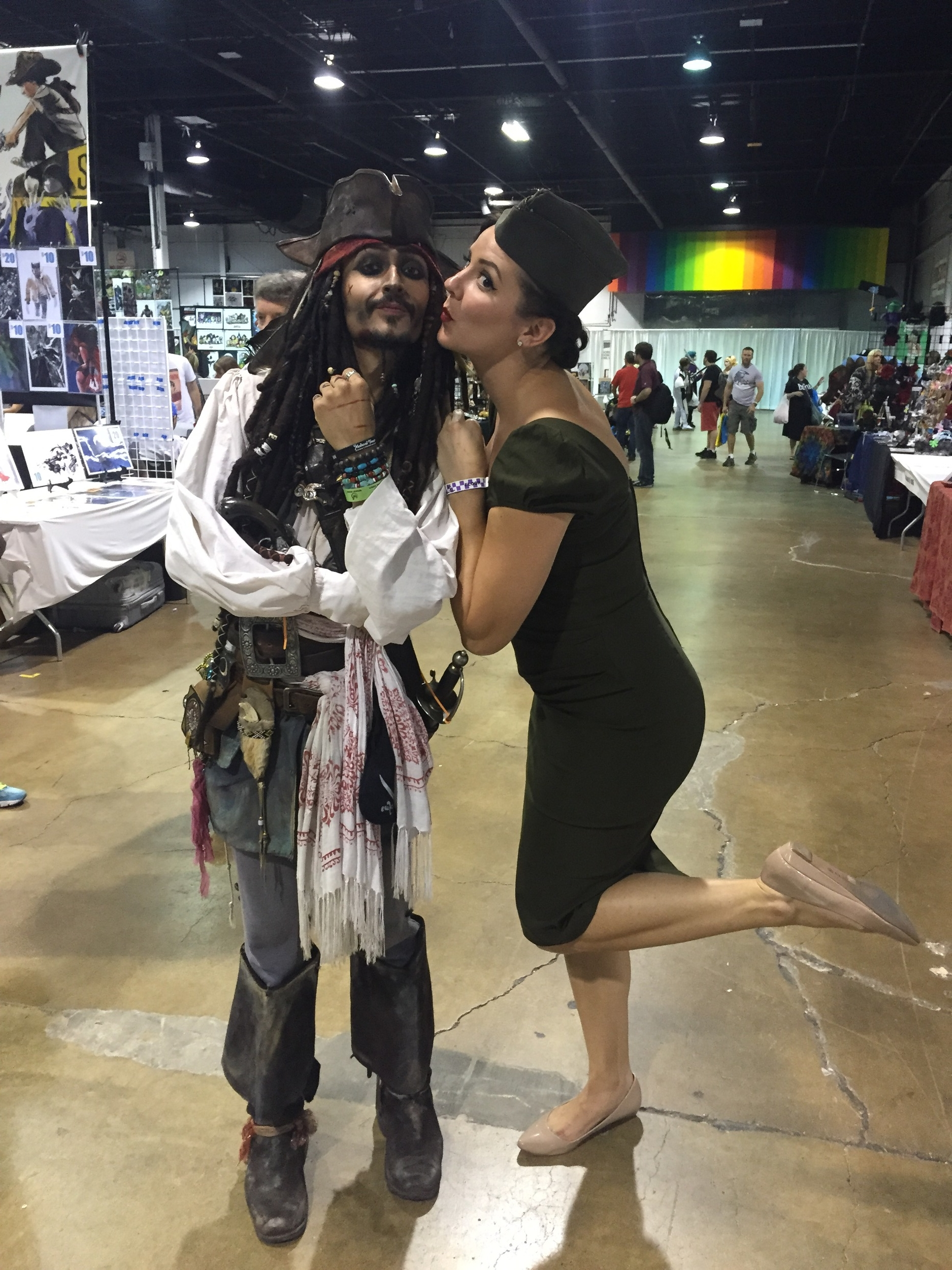 Saucy Jack Sparrow got a kiss from this pinup