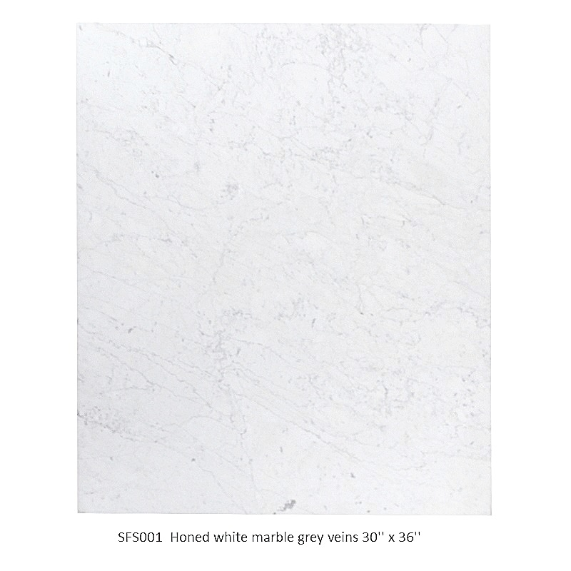 SFS001 Honed white marble grey veins  30_ x 36_ .JPG
