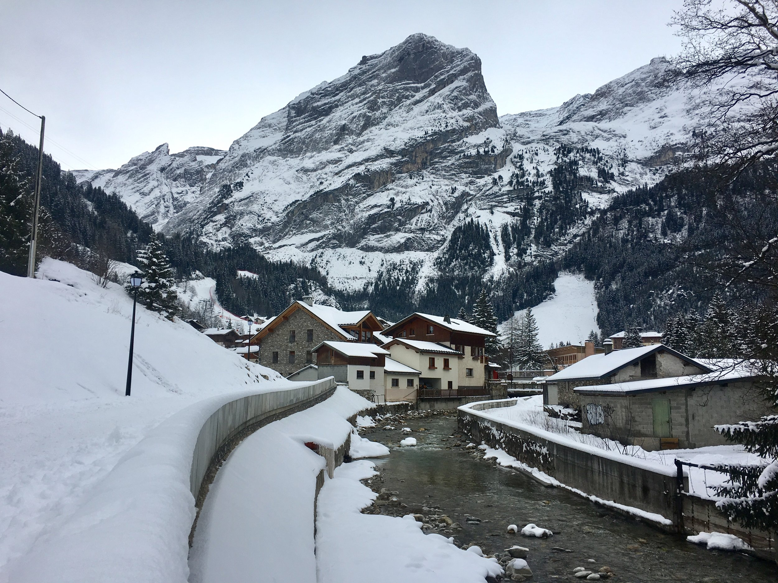 Pralognan la Vanoise, one of the beautiful villages we were working in.