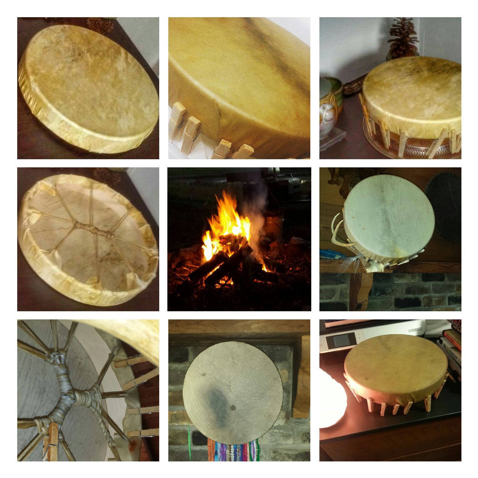 Drum creations from 2014 Road to Self teacher training.