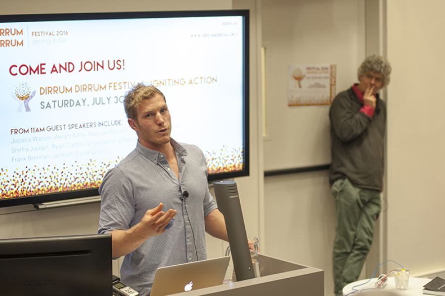 Where to next? David Pocock and Richard Stirzaker at the Sowing the Seed event