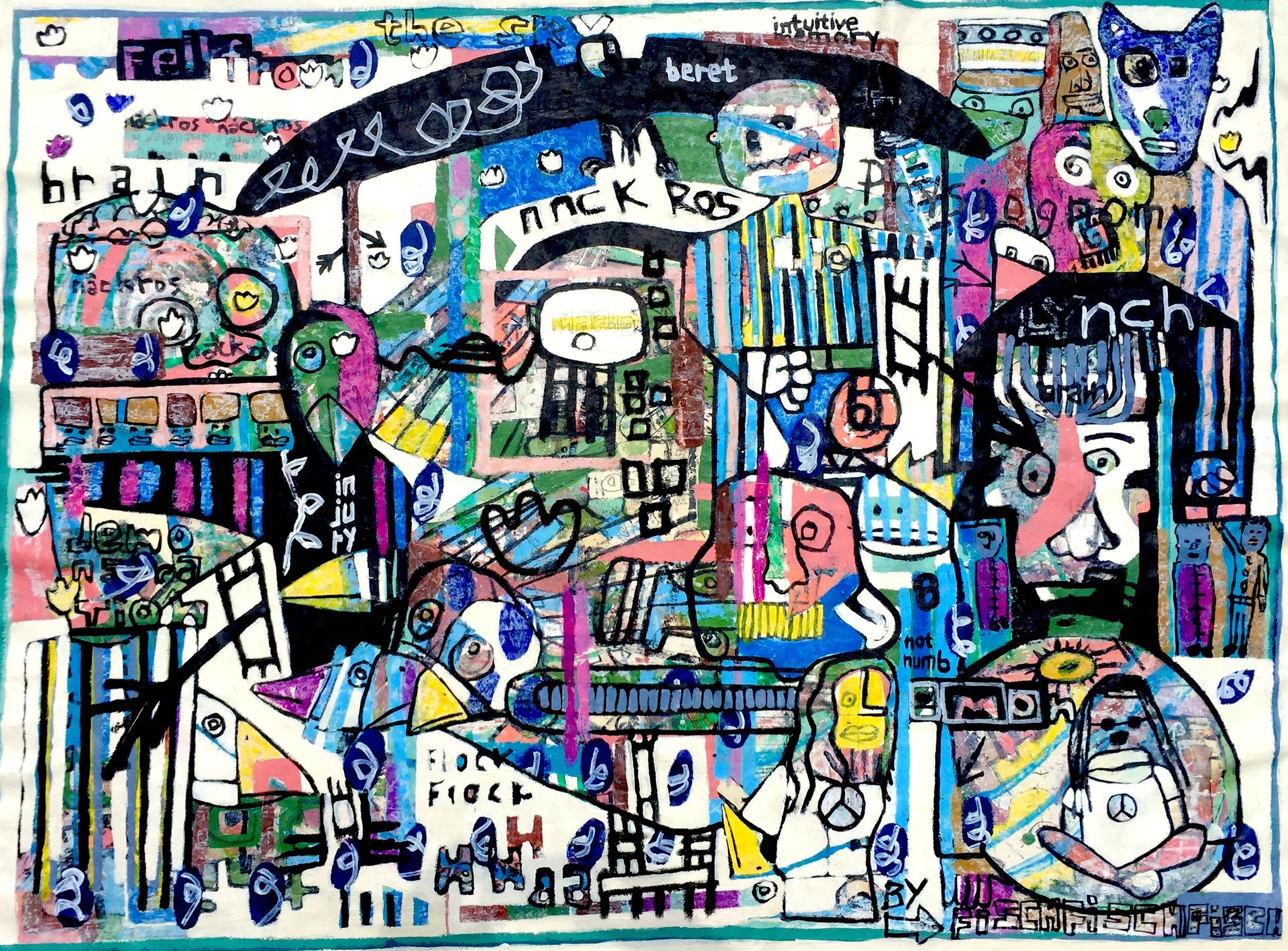 Brainstorm with Lynch, 42.2 x 58