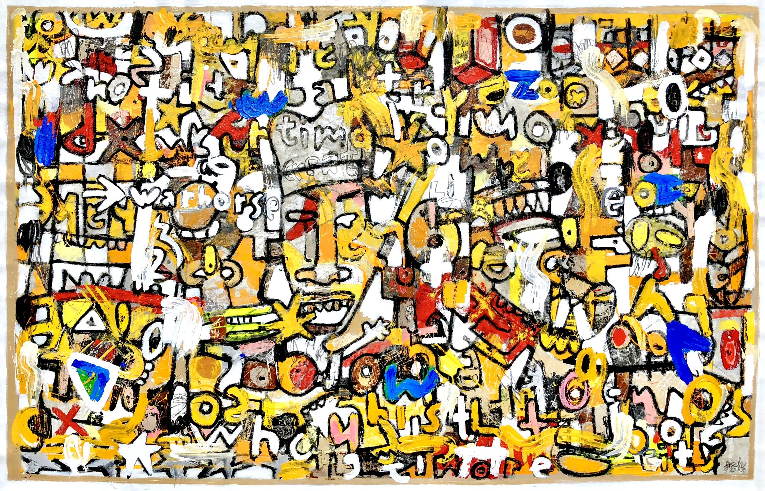 """Mammon & The Battle of Greed, 50x78"""""""