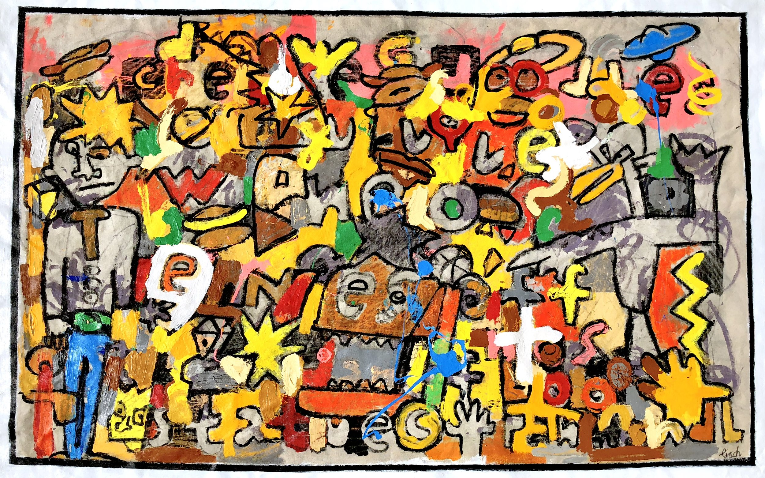 """Panhandlers & Traffic Controllers, 42x66"""""""