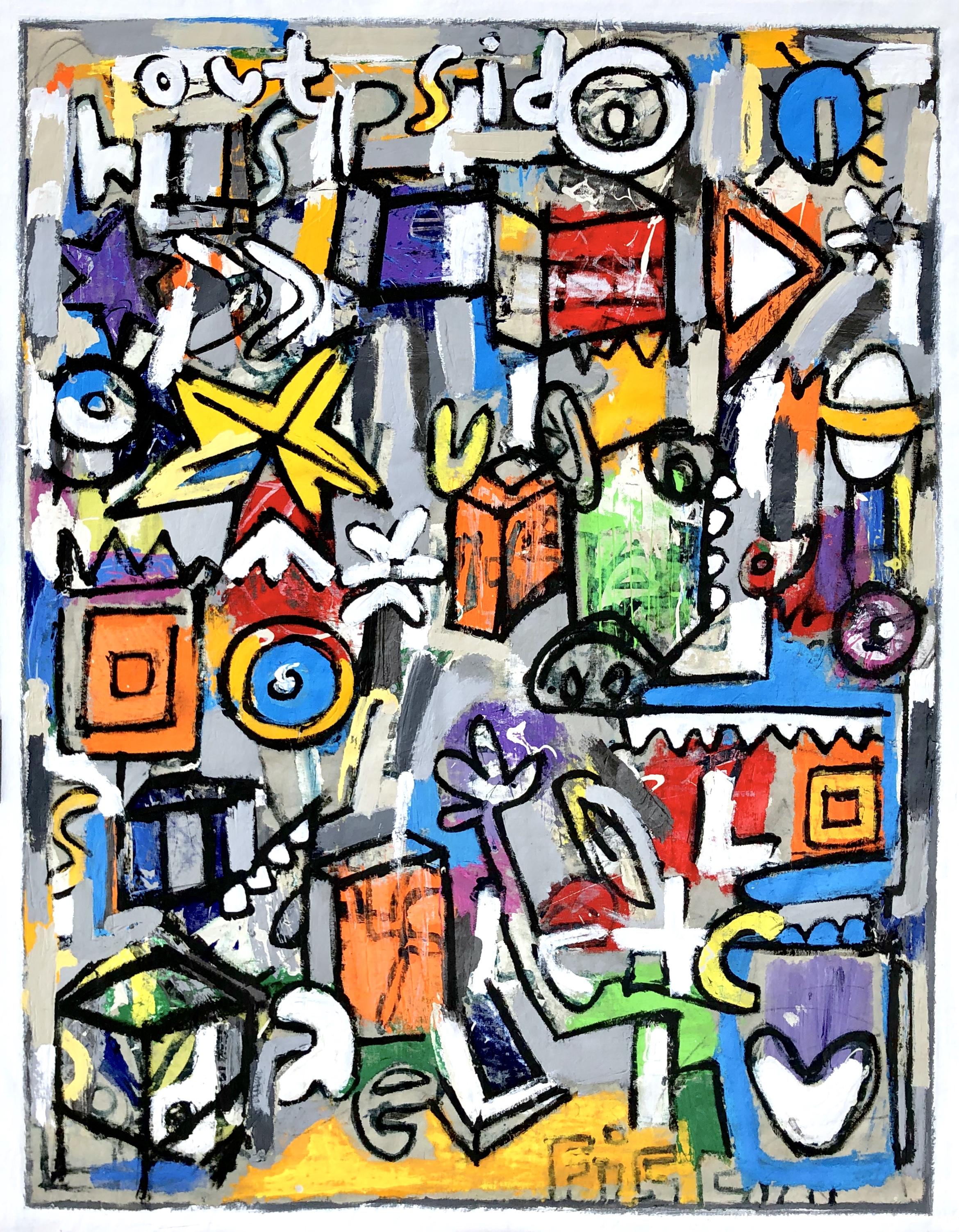 """Nine Dots Puzzle, 54x42"""""""