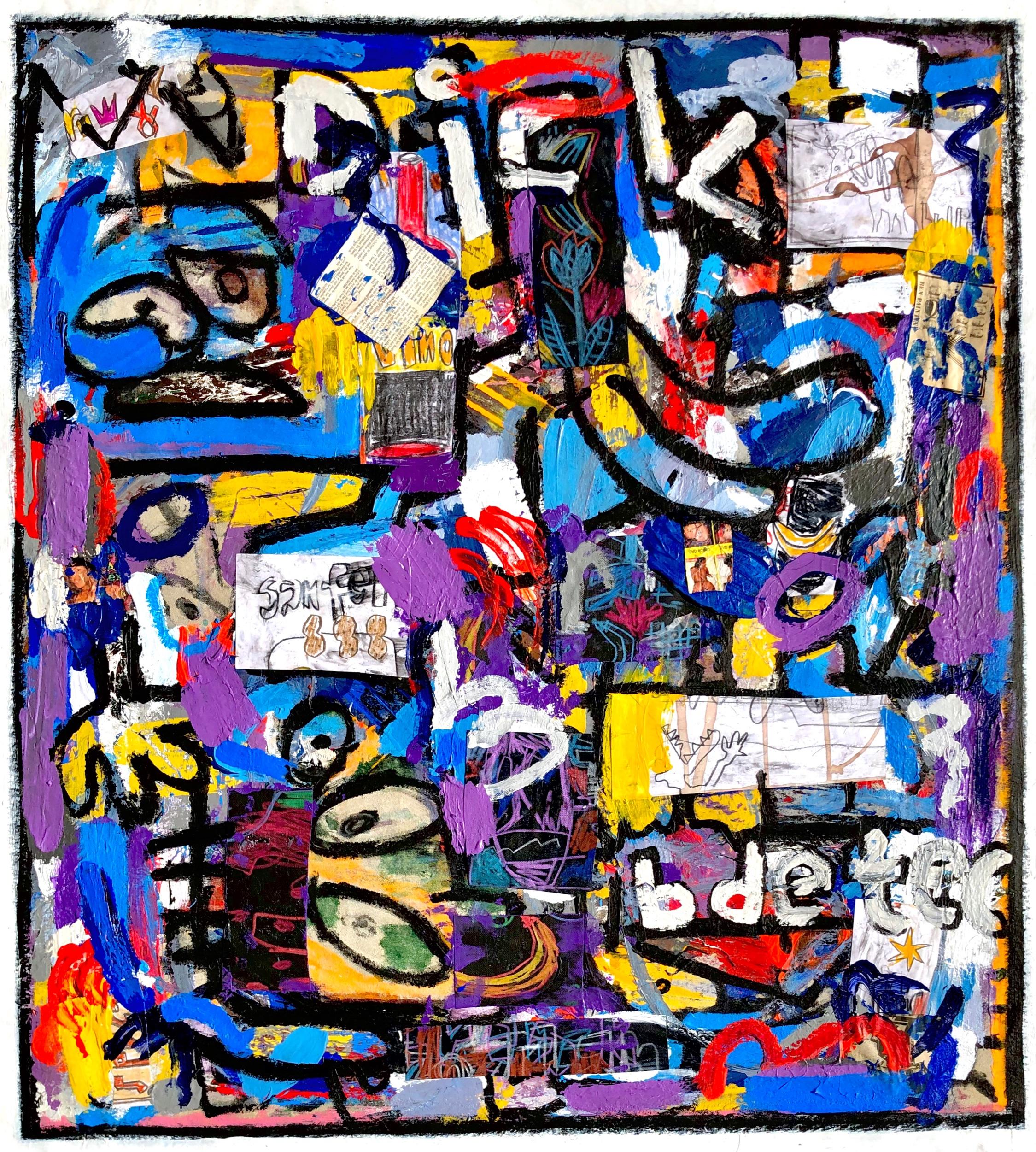 "Crazy Gumshoe Wall, 41x36"""