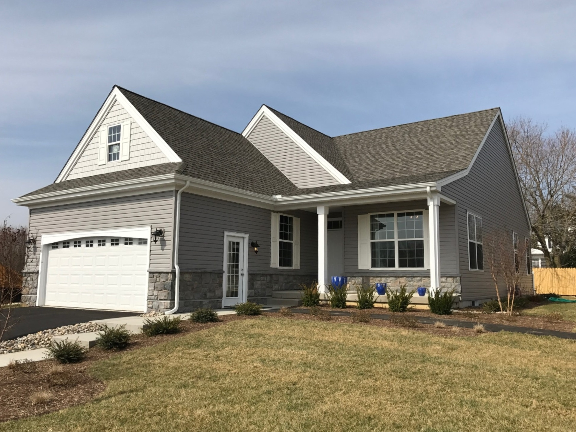 The Alyssum  is one of Ashland's most popular floorplans offering convenient one-level living with an open concept design featuring 2 Bedrooms, 2 Full Baths, 2 car Garage and spacious Owner's Suite.