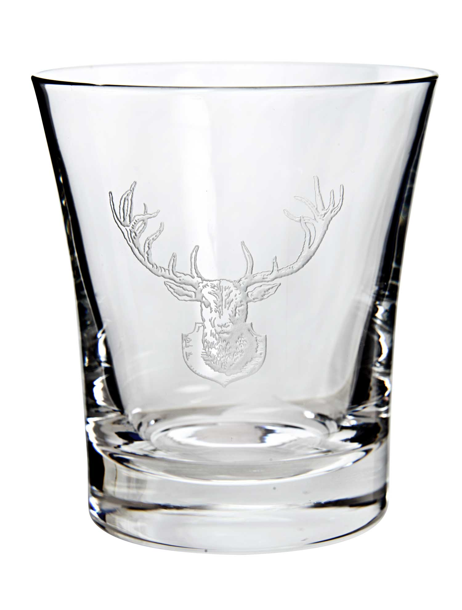 Hand-Etched Crystal Stag Tumbler