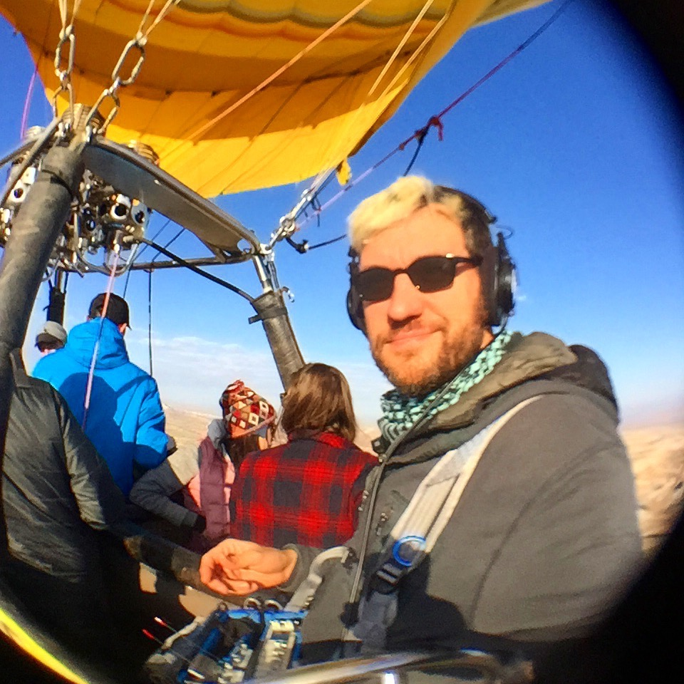 Mixing high above   Cappadocia Turkey