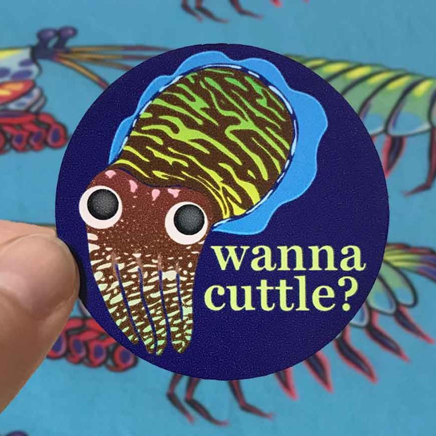 Wanna Cuttle Sticker