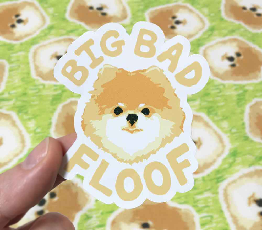 Big Bad Floof Sticker