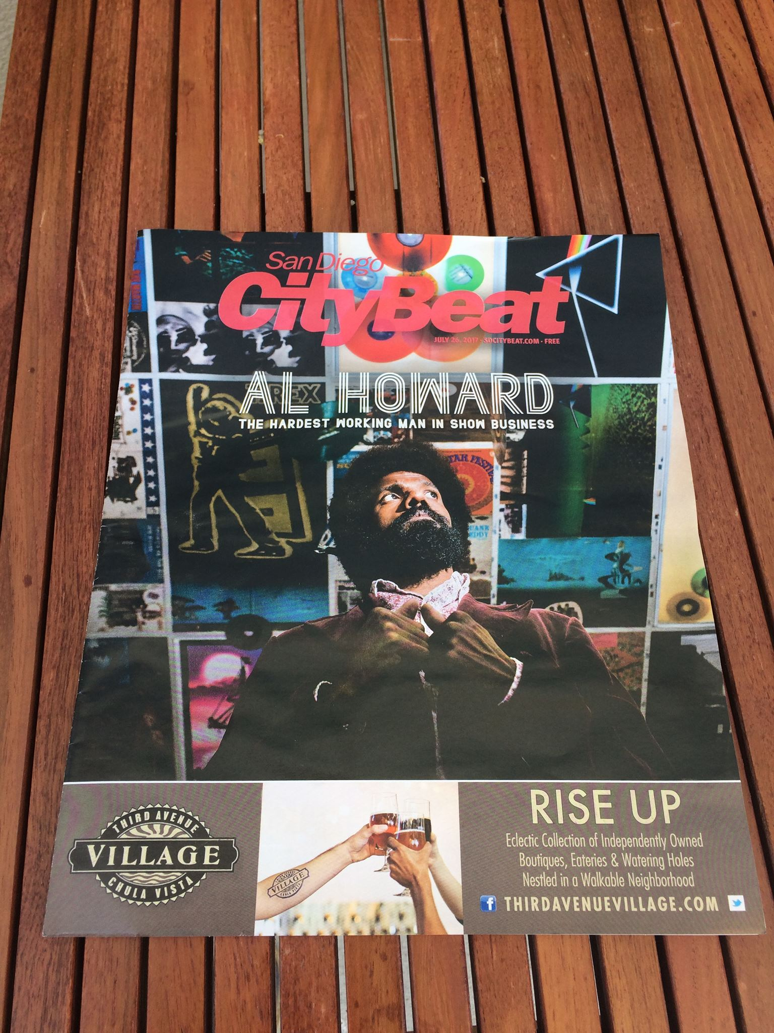 Al's on the cover of SD CityBeat - RISE UP