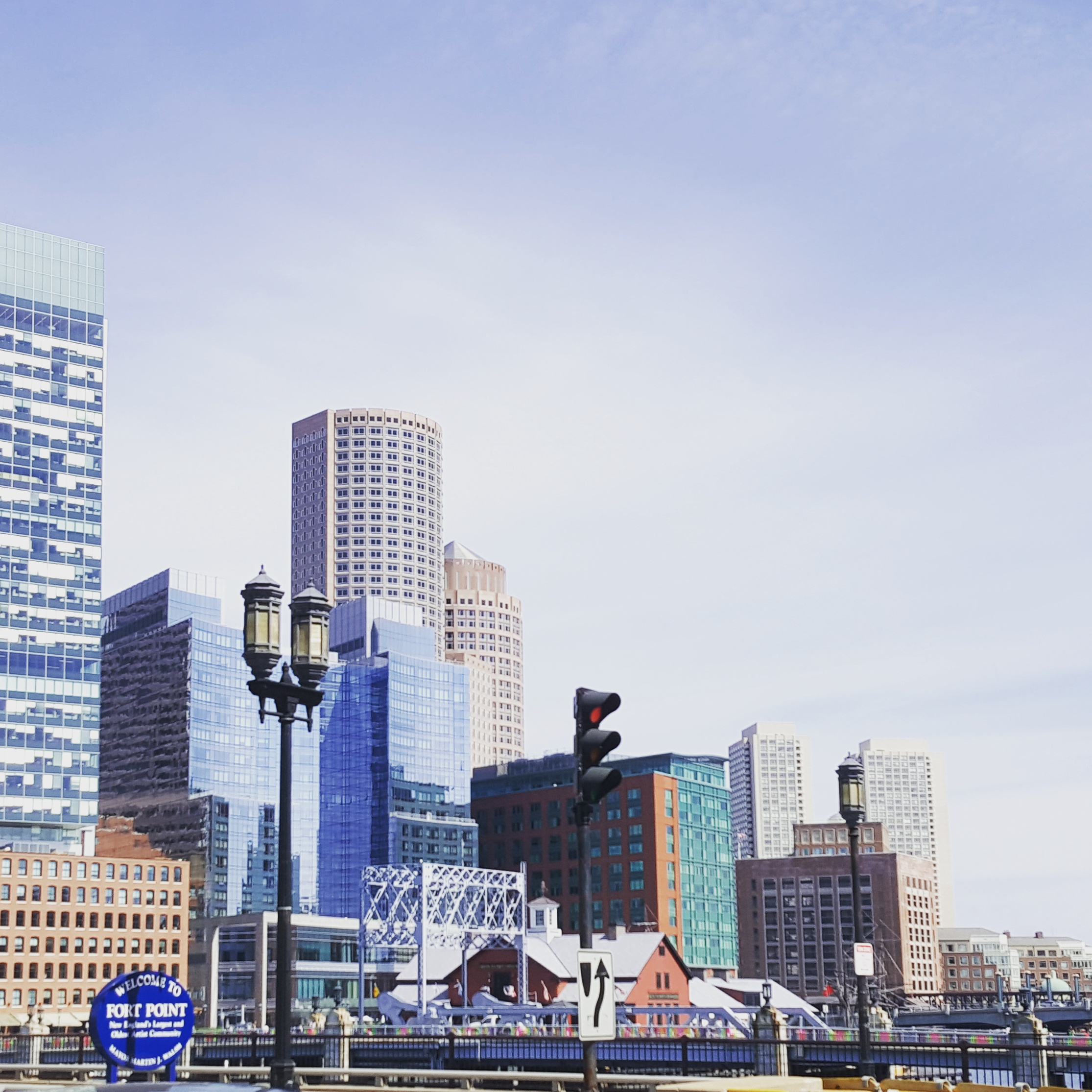 Part of the Boston Skyline from the Fort Point area.