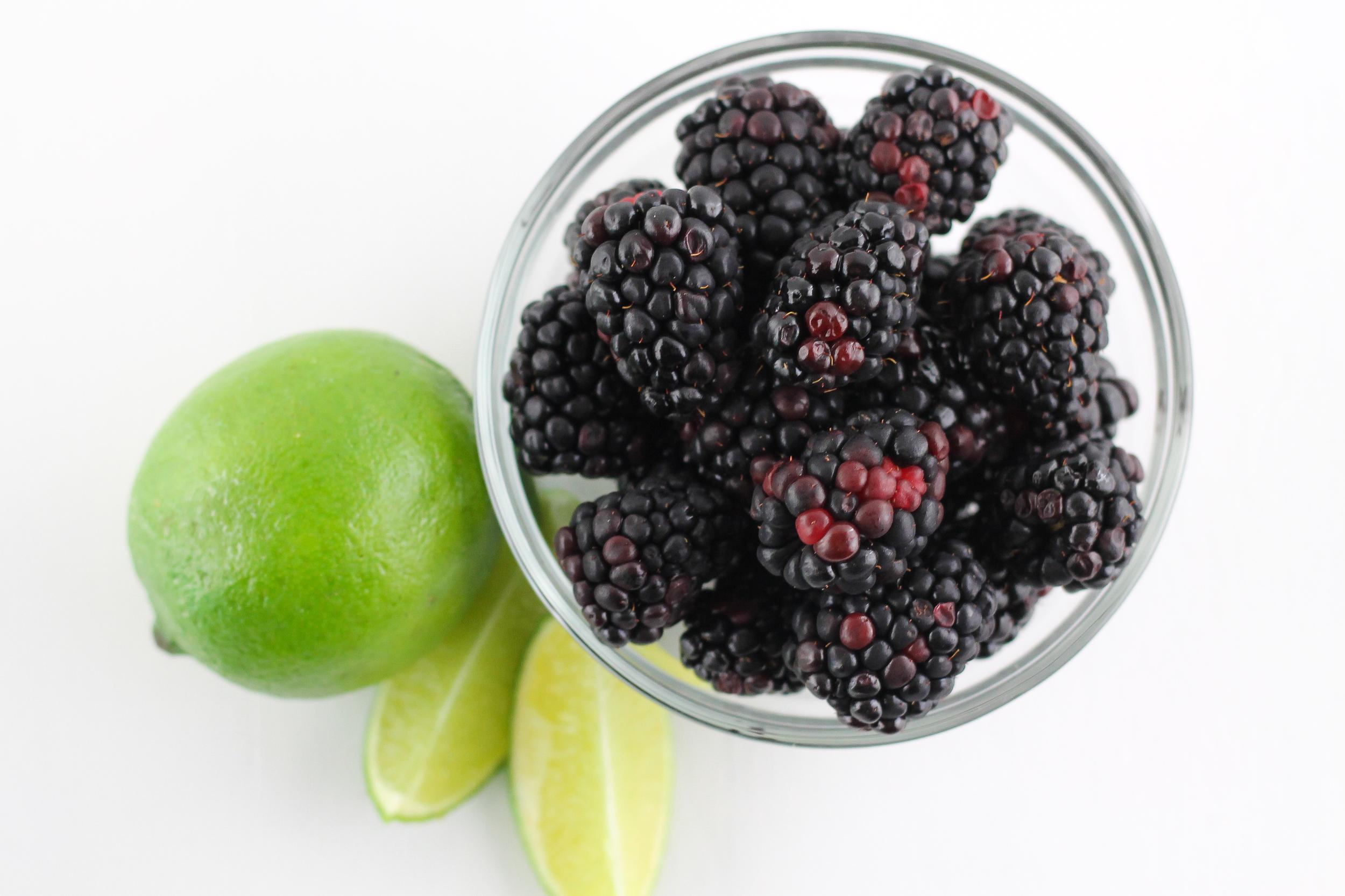 Blackberry & Lime Lacroix Spritizer