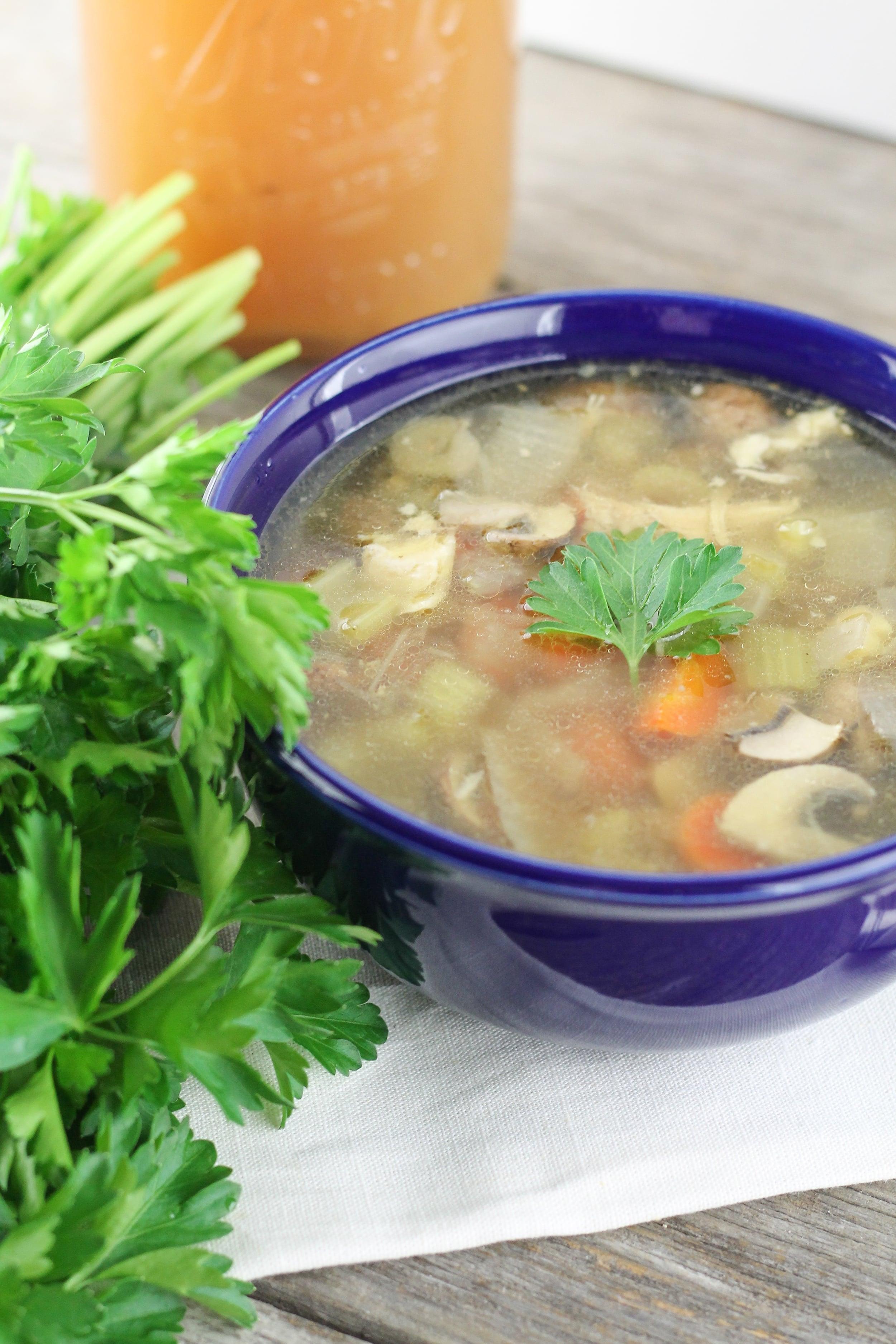 Paleo Chicken Bone Broth Soup