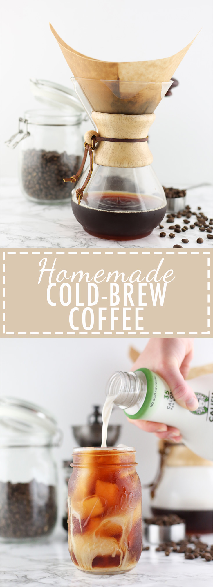 Cold brew coffee, homemade, recipe, cost effective, cheap, easy, simple, summertime